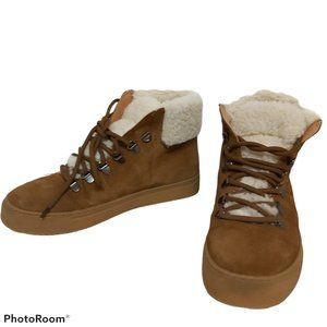 *3/$55* Susina Zayva shearling suede ankle boots